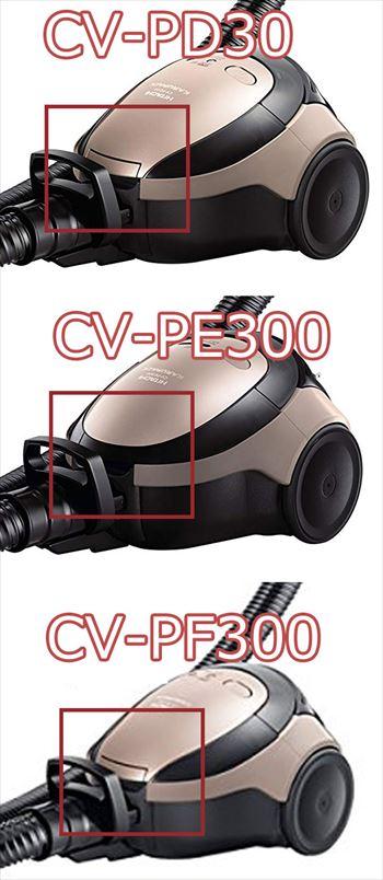CV-PD30とCV-PE300、CV-PF300の違い