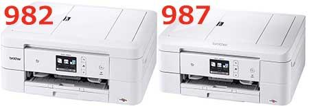 DCP-J987NとDCP-J982Nの比較
