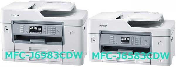 ブラザー MFC-J6983CDWとMFC-J6583CDW